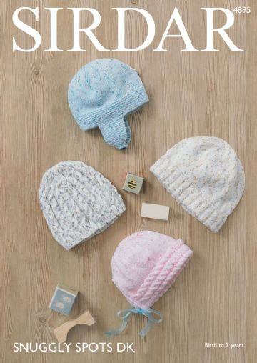 Sirdar  Baby and Childrens Hats  in DK -4895